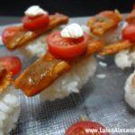 Arroz Sushi com Sardinhas Despidas em Tomate