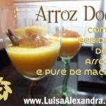 Arroz Doce com Bebida de Arroz e Puré de Maçã