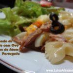 Gratinado de Farfalle com Ovo e Filetes de Atum Português