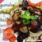 Cogumelos i-i Shiitake Salteados com Esparguete